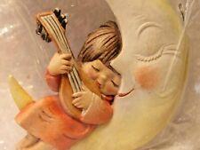ANRI Italy Christmas Ornament  Ferrandie ANGEL LULLING MOON TO SLEEP INSTRUMENT