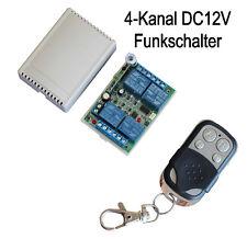 433,92 Mhz 12V 4 Kanal Universal Funk Sender Empfänger Schalter + Handsender