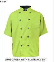 Chefwear 4456-40 Short Sleeve Lightweight Chef Jacket White XS-5XL New !
