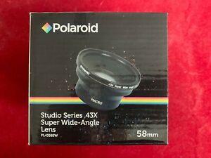 Polaroid PL4358SW Studio Series .43X Super Wide Angle Lens 58mm *BNIB
