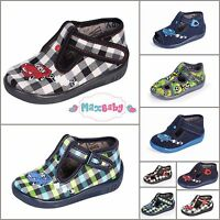 Slippers for Boys Kids Nursery Autumn Winter Shoes, LEATHER Insole Size UK 3.5–7