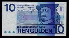 NETHERLANDS 10 GULDEN  1968   PICK # 91b  UNC.