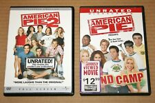 DVD Lot - American Pie 2 (Full) & Band Camp (Wide Screen) - BOTH UNRATED EDITION