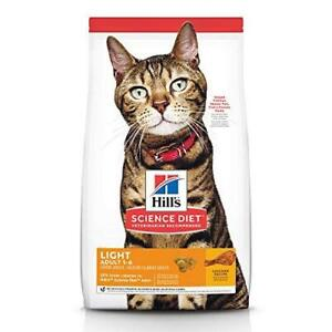 Hill's Science Diet Dry Cat Food, Adult, Light for Healthy Weight & Weight