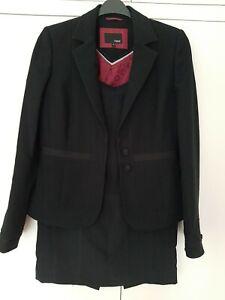Next Ladies Black Skirt Suit. Size 10L