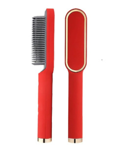Hair Curler Brush Hair Comb Professional Hair Straightener Tourmaline Ceramic