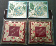 Papyrus 2 Christmas Holiday Mini Cards & 2 Gift Embellishments