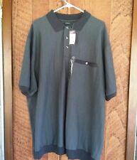 HB Harbor Bay Mens Short Sleeve Gray Shirt Size 3XL