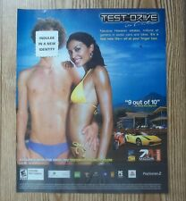 Test Drive Unlimited PS PS2 Xbox PC Aston Martin Car 2006 Video Game Ad/Poster