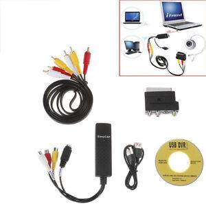 Video Cassettes VHS to DVD Convert Digitizing USB Adapter PC Lap*wk