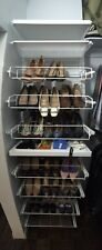 White Classic Elfa shoe organizer *Store Up T0 63 Pairs Of Shoes, plus more*