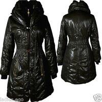 DAMEN WARM BALLON WINTER STEPP JACKE MANTEL PARKA 36 38 S M SCHWARZ ANORAK COAT