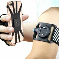 Running Phone Armband Holder 180°Rotatable For Hiking Biking Walking Jogging