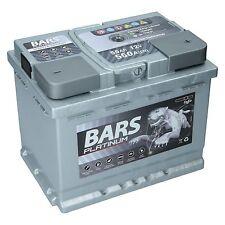 BARS PLATINUM Starterbatterie 12V 55 Ah 550A ersetzt 52Ah 54Ah 58Ah 60Ah 62Ah