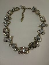 Ann Taylor LOFT Silver Crystal Cluster Link Necklace NWT $54.50
