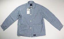 Bleu de Paname NEW Blue Gingham Check Counter Jacket Chore Coat Medium $145 NWT