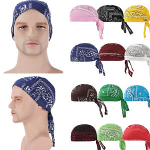 Unisex Cycling Pirate Bandana Skull Cap Hat UV Protection Sweat Wicking Beanie
