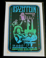 LED ZEPPELIN : NORTH AMERICAN TOUR 1977 DENVER COLISEUM : A4 GLOSSY REPO POSTER