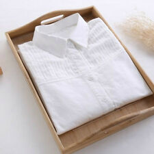 Ladies Blouse Summer Formal Top Women White Pleated Fold Shirt Casual Breathable