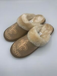 FOCO NFL New Orleans Saints Womens Slippers Pair Size 11/12 Slip On Hard Sole