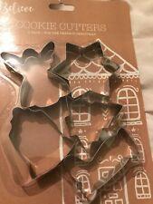 Navidad Conjunto de 5 Cortadores De Galletas De Metal Star Árbol Campana de Ángel de Navidad árbol de Navidad