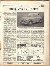 Riley 1.5 One Point Five Motor Trader Service Data No. 301 1958