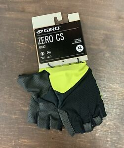Giro Zero CS Cycling Gloves Black / Yellow Size XL New