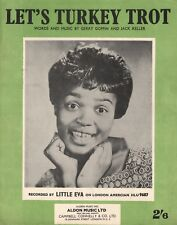 LITTLE EVA Let's Turkey Trot ORIG 1963 UK Song Sheet Brill Building Girl Group