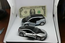 Kinsmart- BMW Electric Cars-Lot of 2 - BMW i8 (1:36) & BMW i3 (1:32) -Pull  Back