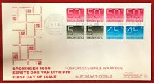 1980 Netherlands FDC # 541a - Numerals Booklet Pane of 8