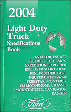 2004 Ford Service Specifications Manual F150 F250 F350 Super Duty Pickup Truck