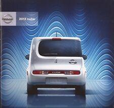 2012 12  Nissan Cube original sales brochure