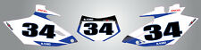 Yamaha WR 450 F 2012 - 2015 Custom number Plates Storm graphics / stickers