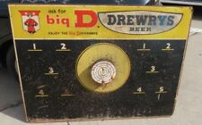 """Vintage RARE Drewrys Advertising 1940s 1950s Beer Sign Pick Board 48"""" by 36"""""""