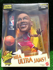 1999 Mattel Michael Jordan Bulls NBA Ultra Jams RED Figure + Collector Card