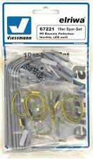 Viessmann 67221 10 Set risparmio,H0 Kit di costruzione Lampione stradale,bianco