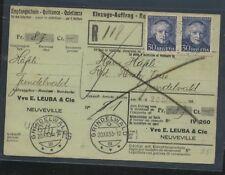 Switzerland   B68 (2)  on  parcel  card              MS0207