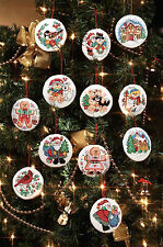Cross Stitch Kit ~ Janlynn 12 Holiday Keepsake Christmas Ornaments #023-0217