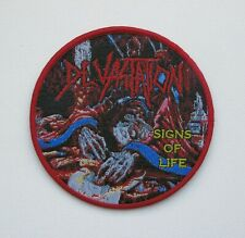 DEVASTATION [maroon] --- Woven Patch / Demolition Hammer Sadus Morbid Saint