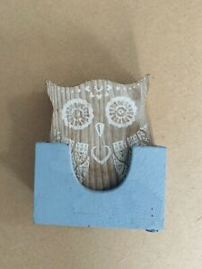 Wooden owl coasters