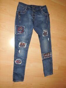 Mozzaar Made in Italy coole Stretch Jeans Hose L 38/40/42 wNEU Ungetragen short
