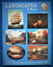 Landscapes by Norma Poulos 5 Painting Pattern Book Still Life Seascape - Unused