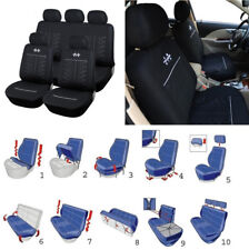 Set Auto Seat Cover Cushion Protector Sports Style for 5-Seat Car Four Seasons