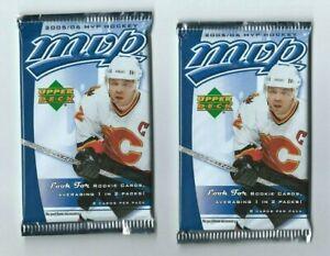 2005-06 UD Upper Deck MVP Hockey 2 Pack Retail  8 Cards per Pack