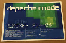Depeche Mode Rare 2004 Promo Poster for Remixes Cd 17x11 Never Displayed Usa