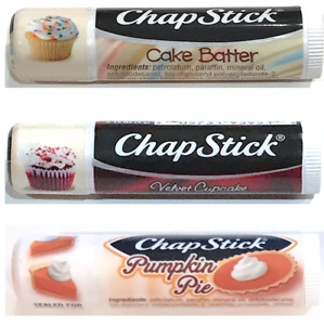 Chapstick Classic Lip Balm Velvet Cupcake Cake Batter Pumpkin Pie You Choose!