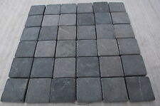 Sample Grey Tumbled Marble 5 cm by 5 cm Mosaic wall tiles kitchen & bathroom