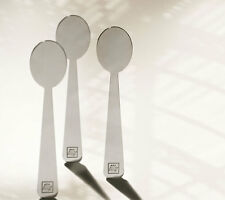 3 x Illy Demitasse Ombra espresso spoon set designer art collection new