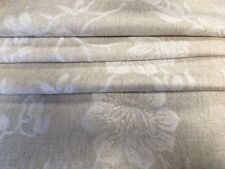 Laura Ashley Ashino upholstery Fabric remnant in Natural 142 x 124cm