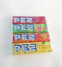 Original PEZ Fruit Flavored Retro Candy Candies Refill 4 Sticks